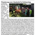 """Pressebericht im """"Vilshofener Anzeiger"""" über den Besuch des Kindergartens Aunkirchen."""