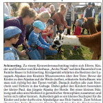 """Pressebericht im """"Vilshofener Anzeiger"""" über den Besuch des Kindergartens Arche Noah Vilshofen."""