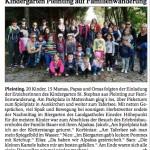 """Pressebericht im """"Vilshofener Anzeiger"""" über den Besuch des Kindergartens Pleinting."""