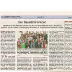 """Pressebericht im """"Ebersberg & Grafinger Anzeiger"""" über die Fortbildung Erlebnis Bauernhof ."""