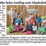 """Pressebericht im """"Vilshofener Anzeiger"""" über den Besuch des kath. Kindergartens St. Alruna Ortenburg."""
