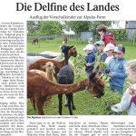 """Pressebericht """"Landauer Neue Presse"""" über den Besuch des Kindergartens St. Michael Aufhausen."""